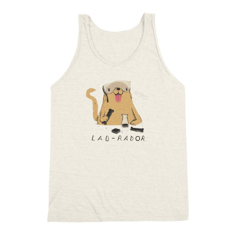 lab-rador Men's Triblend Tank by louisros's Artist Shop
