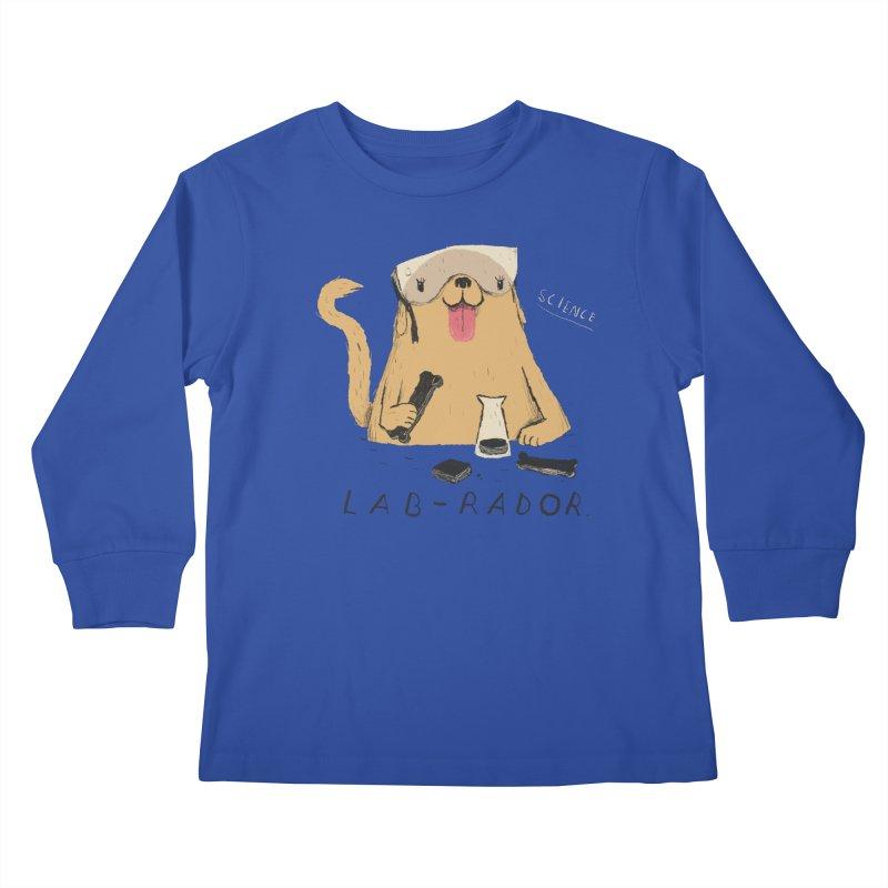 lab-rador Kids Longsleeve T-Shirt by louisros's Artist Shop