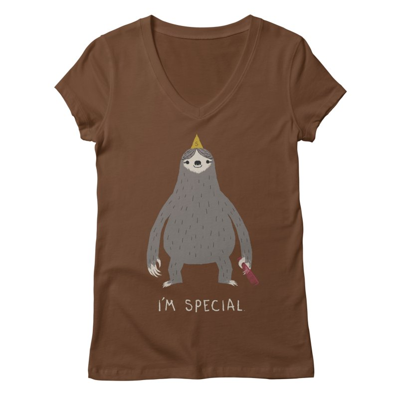 i'm special Women's V-Neck by louisros's Artist Shop