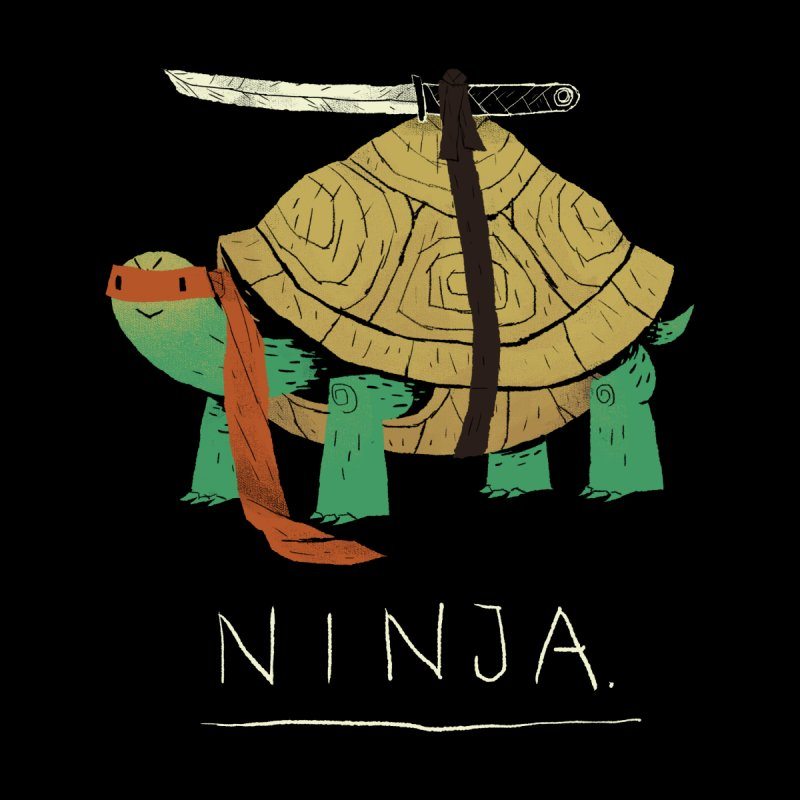 ninja. Women's Fitted T-Shirt by louisros's Artist Shop