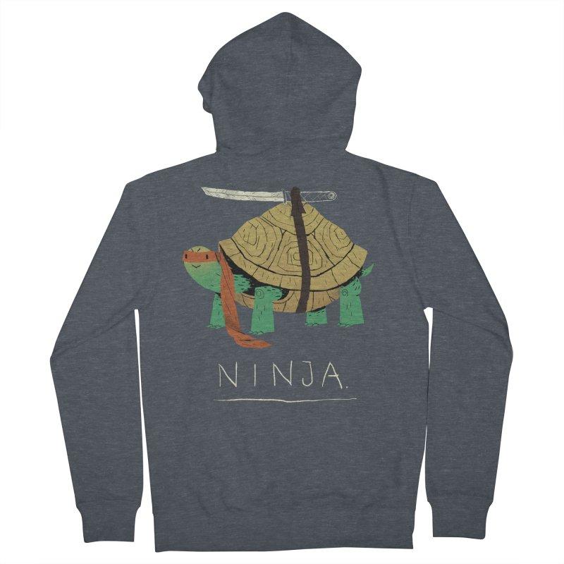 ninja. Women's Zip-Up Hoody by louisros's Artist Shop