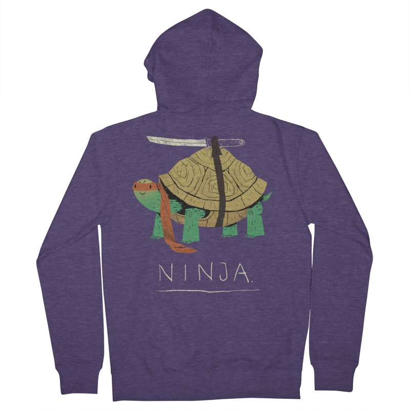 ninja. Men's Zip-Up Hoody by louisros's Artist Shop