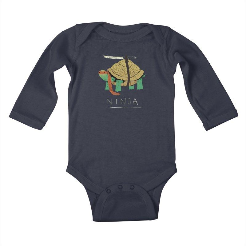 ninja. Kids Baby Longsleeve Bodysuit by louisros's Artist Shop