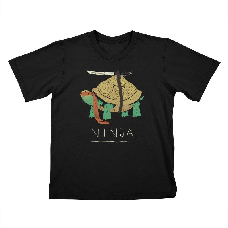 ninja. Kids T-Shirt by louisros's Artist Shop