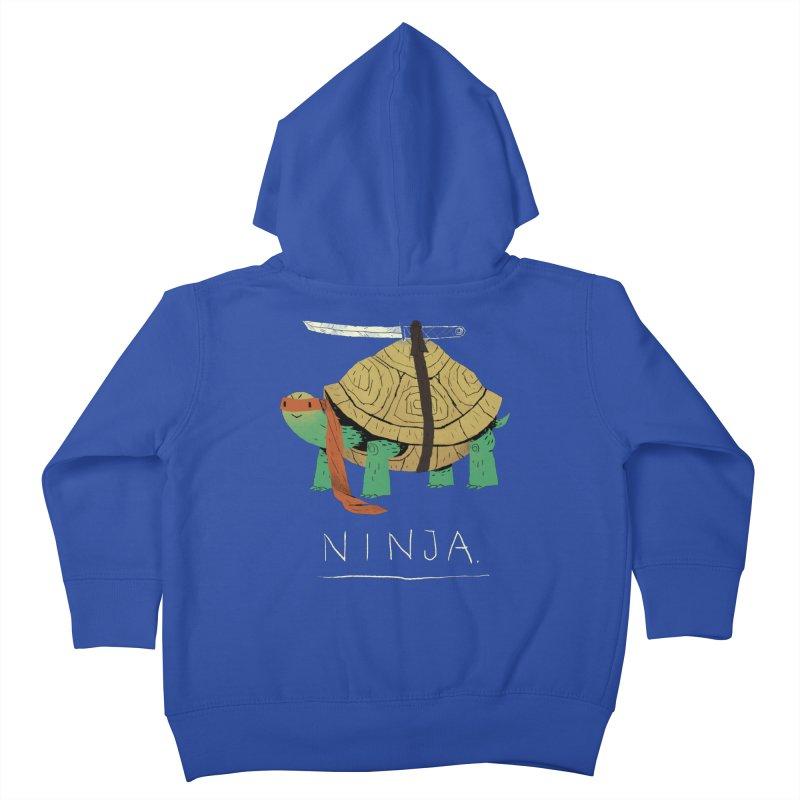 ninja. Kids Toddler Zip-Up Hoody by louisros's Artist Shop