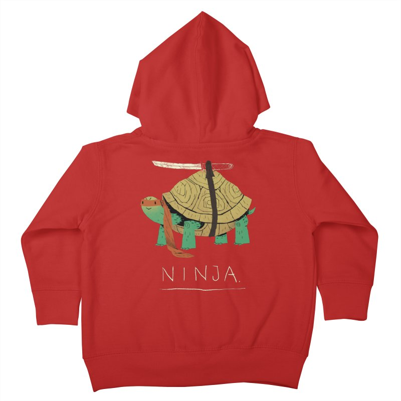 ninja. Kids Toddler Zip-Up Hoody by louisros's Artist Shop