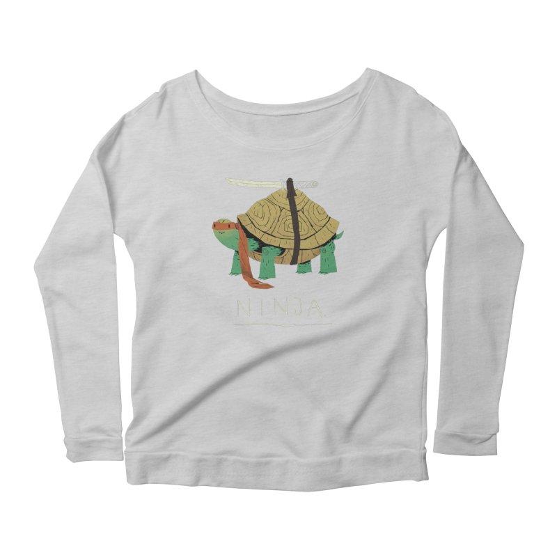 ninja. Women's Scoop Neck Longsleeve T-Shirt by louisros's Artist Shop