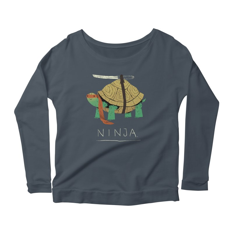 ninja. Women's Longsleeve Scoopneck  by louisros's Artist Shop