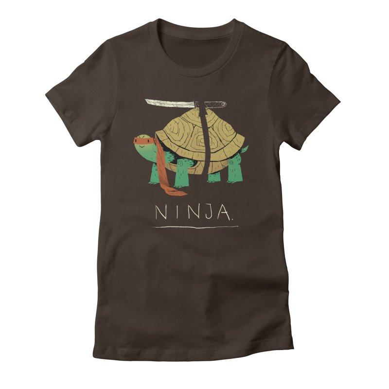 ninja. Women's Fitted T-Shirt by louisros's Artist Shop