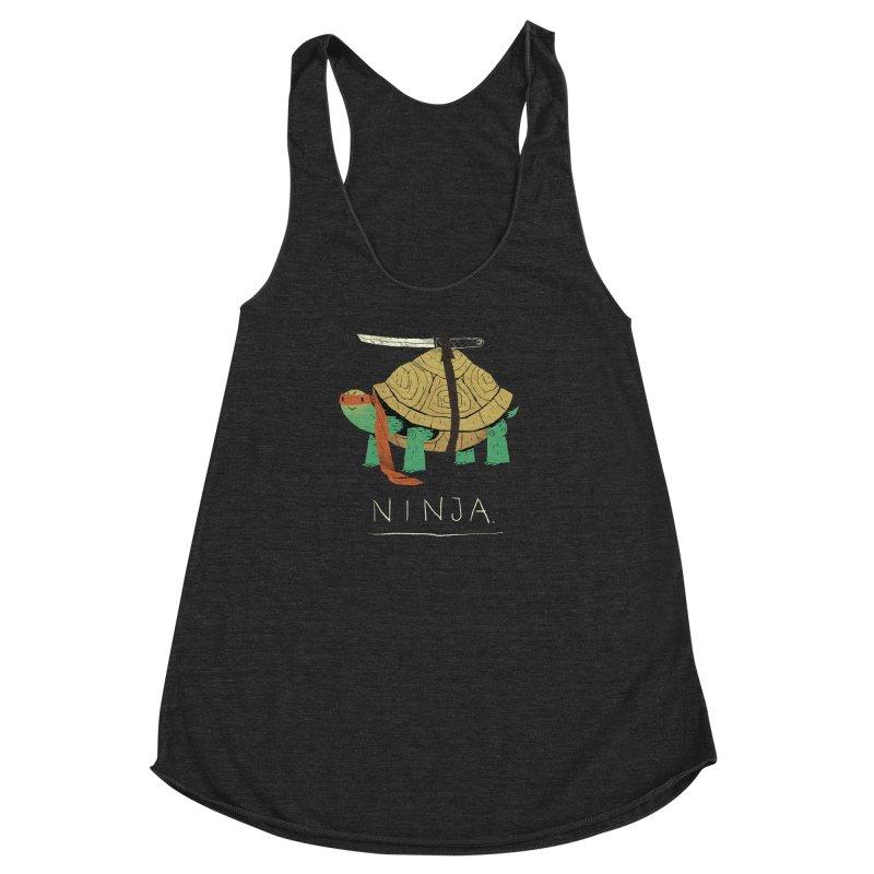 ninja. Women's Racerback Triblend Tank by louisros's Artist Shop