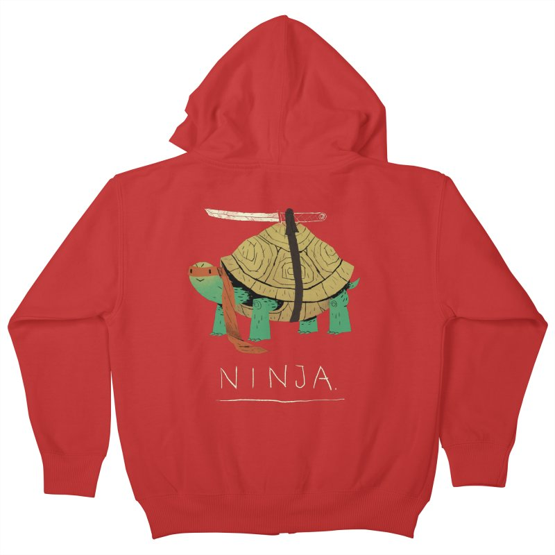 ninja. Kids Zip-Up Hoody by louisros's Artist Shop