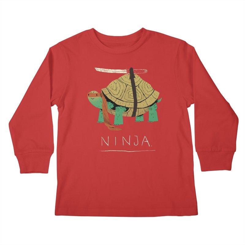 ninja. Kids Longsleeve T-Shirt by louisros's Artist Shop