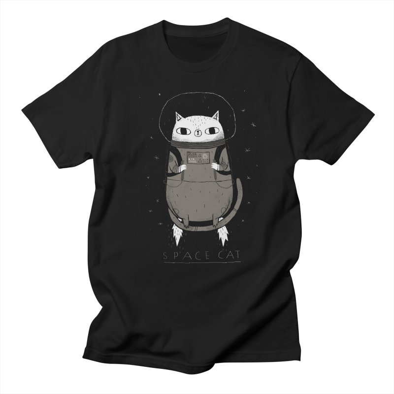 space cat Men's T-Shirt by louisros's Artist Shop