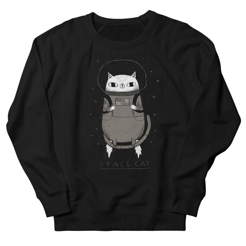 space cat Women's French Terry Sweatshirt by louisros's Artist Shop