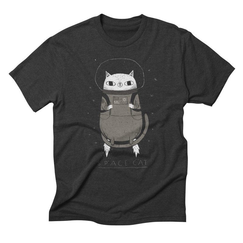 space cat Men's Triblend T-Shirt by louisros's Artist Shop