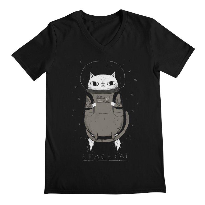 space cat Men's V-Neck by louisros's Artist Shop