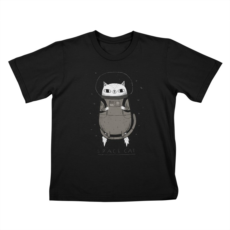 space cat Kids T-Shirt by louisros's Artist Shop