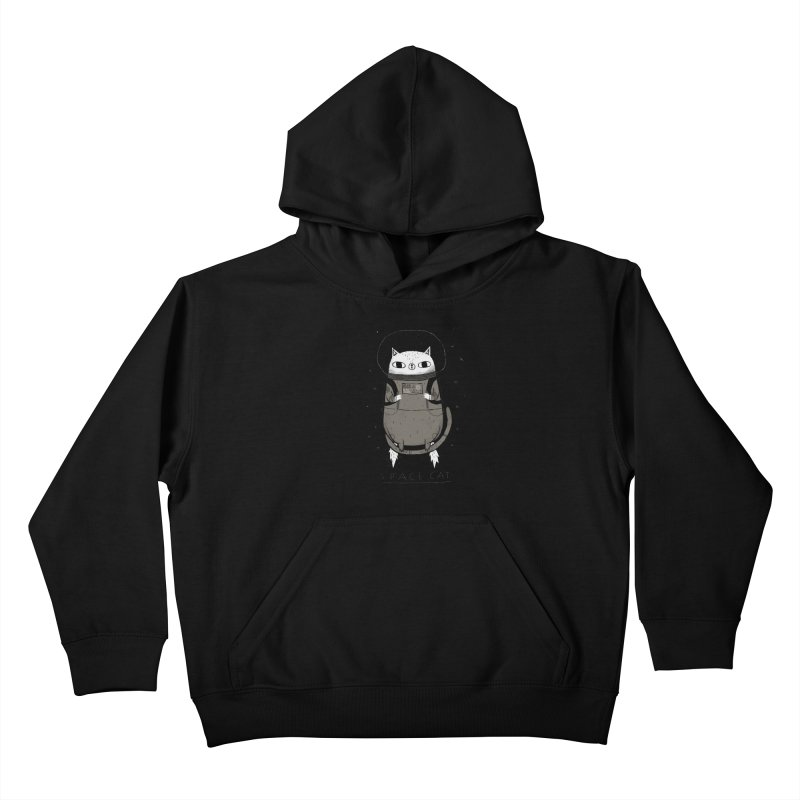space cat Kids Pullover Hoody by louisros's Artist Shop