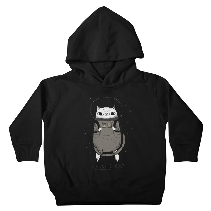 space cat Kids Toddler Pullover Hoody by louisros's Artist Shop