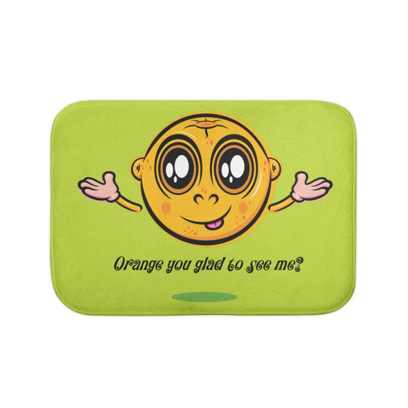 Orange you glad to see me? Home Bath Mat by Samalou - The Art and Illustrations of Lou Simeone