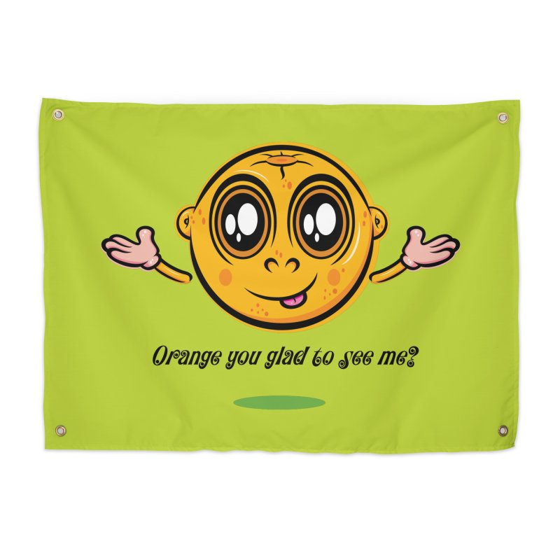 Orange you glad to see me? Home Tapestry by Lou Simeone Art