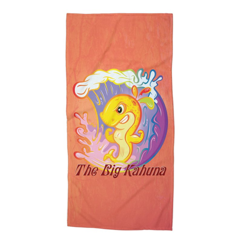 The Big Kahuna Accessories Beach Towel by Samalou - The Art and Illustrations of Lou Simeone
