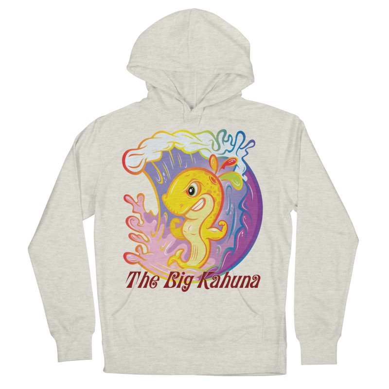 The Big Kahuna Women's French Terry Pullover Hoody by Samalou - The Art and Illustrations of Lou Simeone