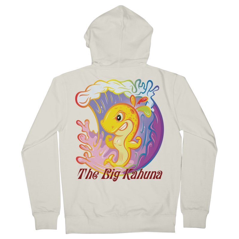 The Big Kahuna Women's French Terry Zip-Up Hoody by Samalou - The Art and Illustrations of Lou Simeone