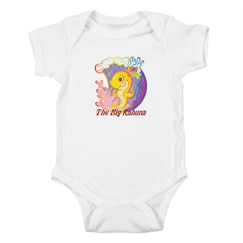 The Big Kahuna Kids Baby Bodysuit by Samalou - The Art and Illustrations of Lou Simeone