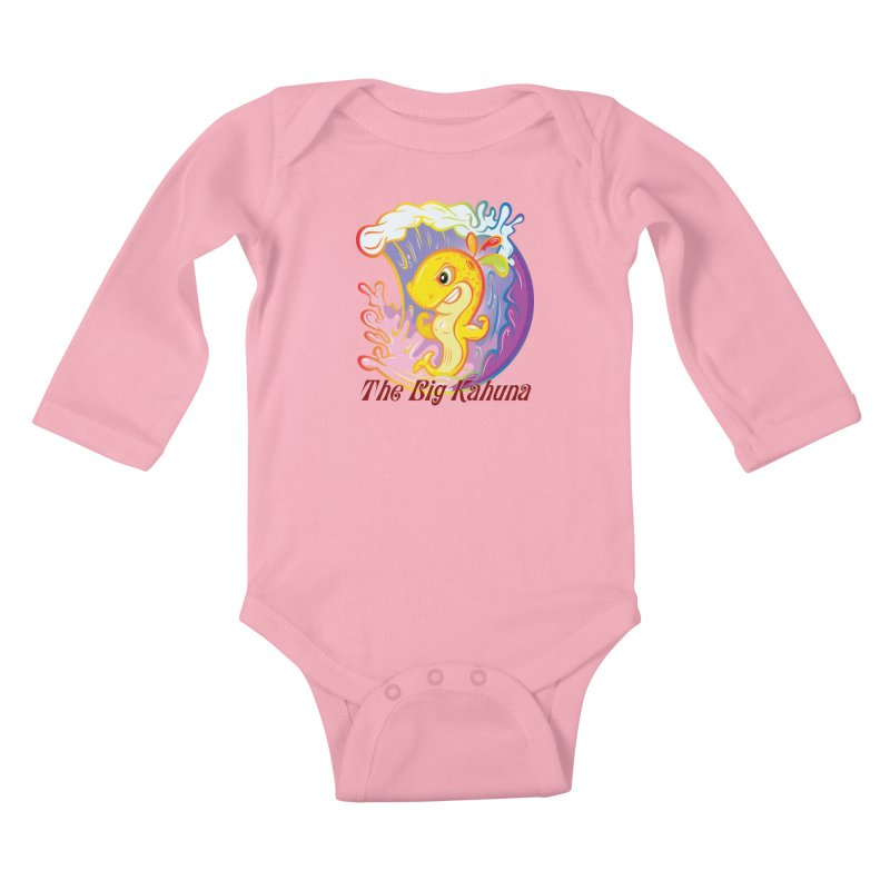 The Big Kahuna Kids Baby Longsleeve Bodysuit by Samalou - The Art and Illustrations of Lou Simeone
