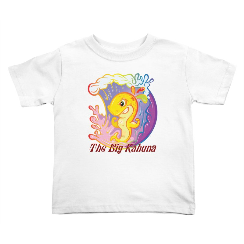 The Big Kahuna Kids Toddler T-Shirt by Samalou - The Art and Illustrations of Lou Simeone
