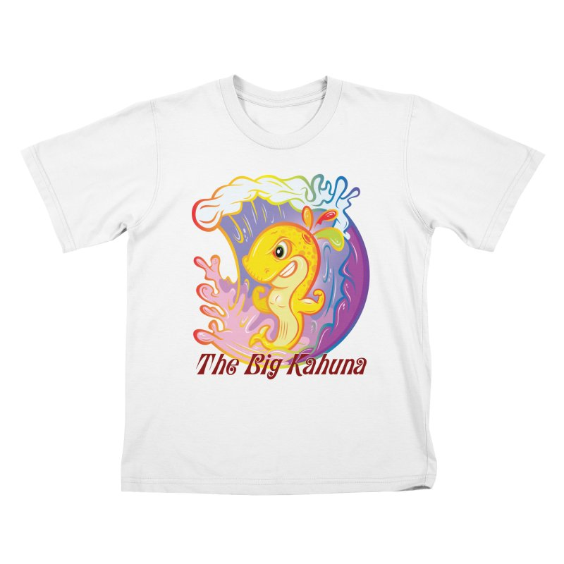 The Big Kahuna Kids T-Shirt by Samalou - The Art and Illustrations of Lou Simeone