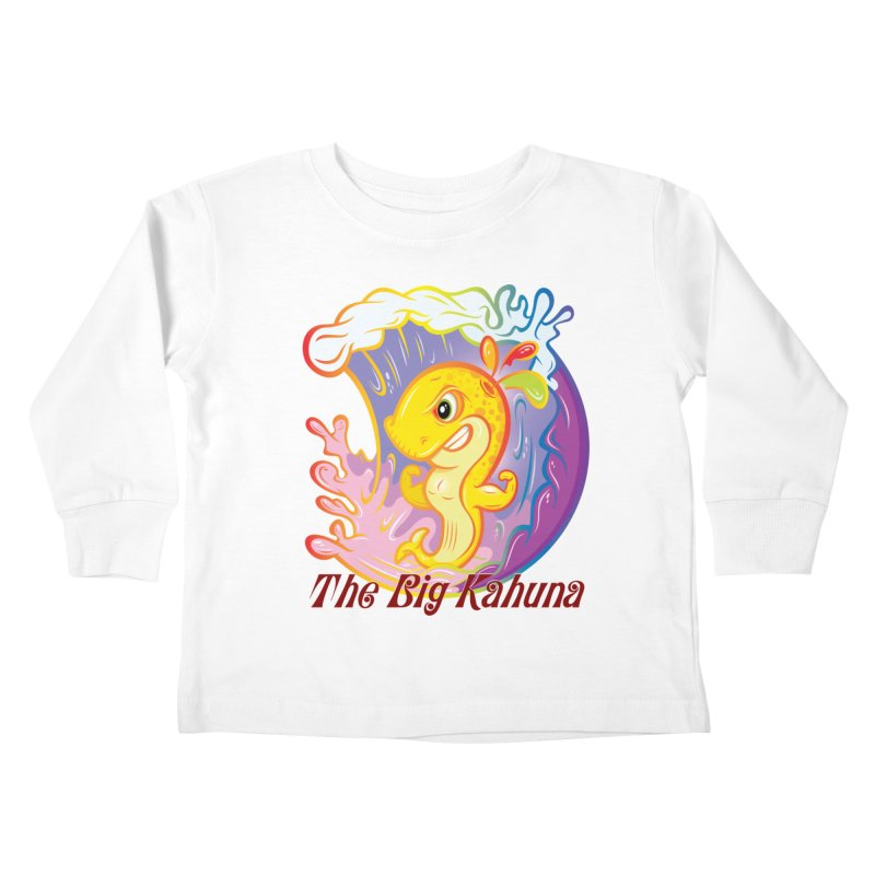 The Big Kahuna Kids Toddler Longsleeve T-Shirt by Samalou - The Art and Illustrations of Lou Simeone