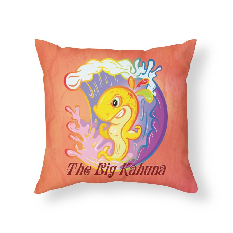 The Big Kahuna Home Throw Pillow by Samalou - The Art and Illustrations of Lou Simeone