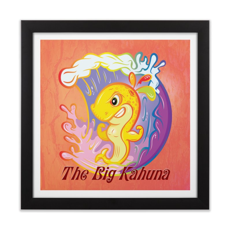The Big Kahuna Home Framed Fine Art Print by Samalou - The Art and Illustrations of Lou Simeone