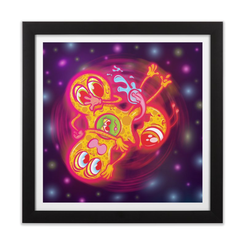 Fidget Spinner Wall Art Home Framed Fine Art Print by Samalou - The Art and Illustrations of Lou Simeone