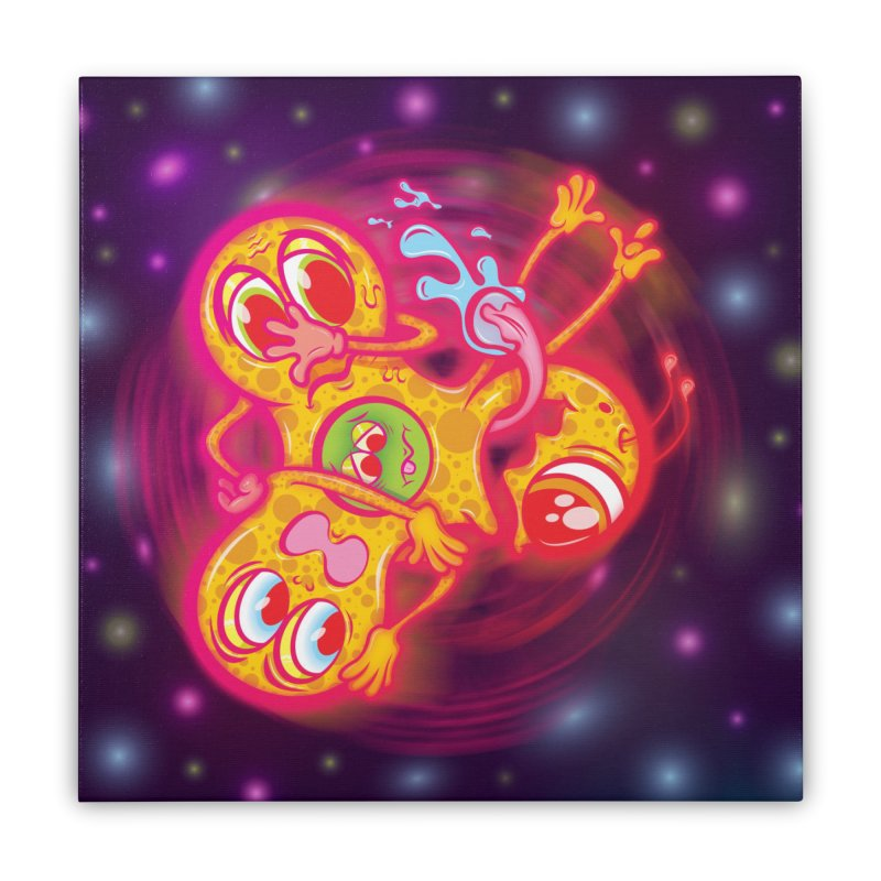Fidget Spinner Wall Art Home Stretched Canvas by Samalou - The Art and Illustrations of Lou Simeone