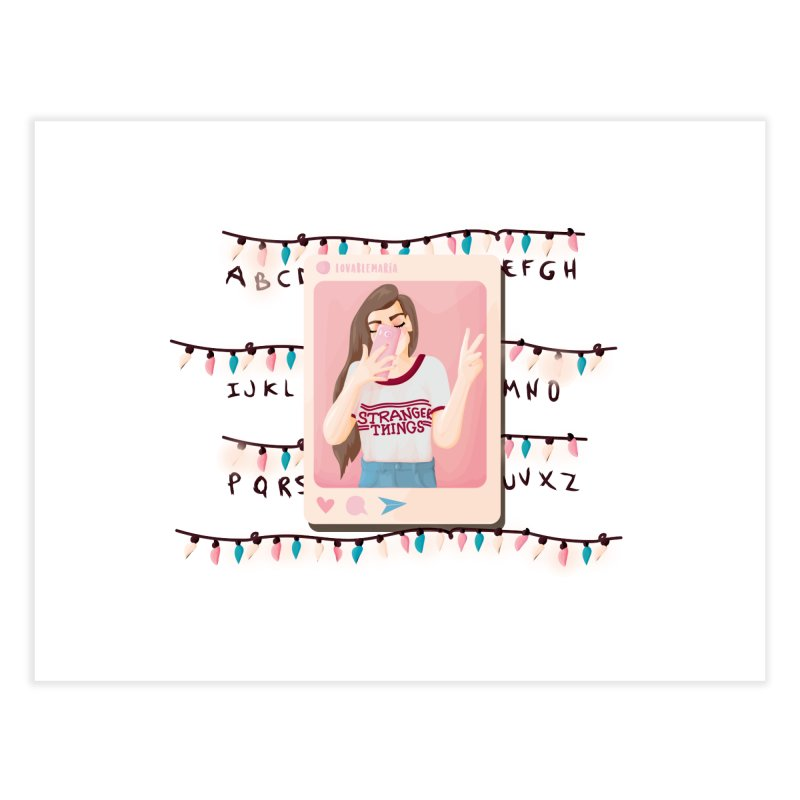 Fan Girl Home Fine Art Print by lovablemaria's Artist Shop
