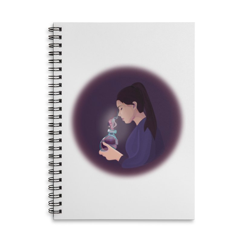 Love Potion Accessories Lined Spiral Notebook by lovablemaria's Artist Shop