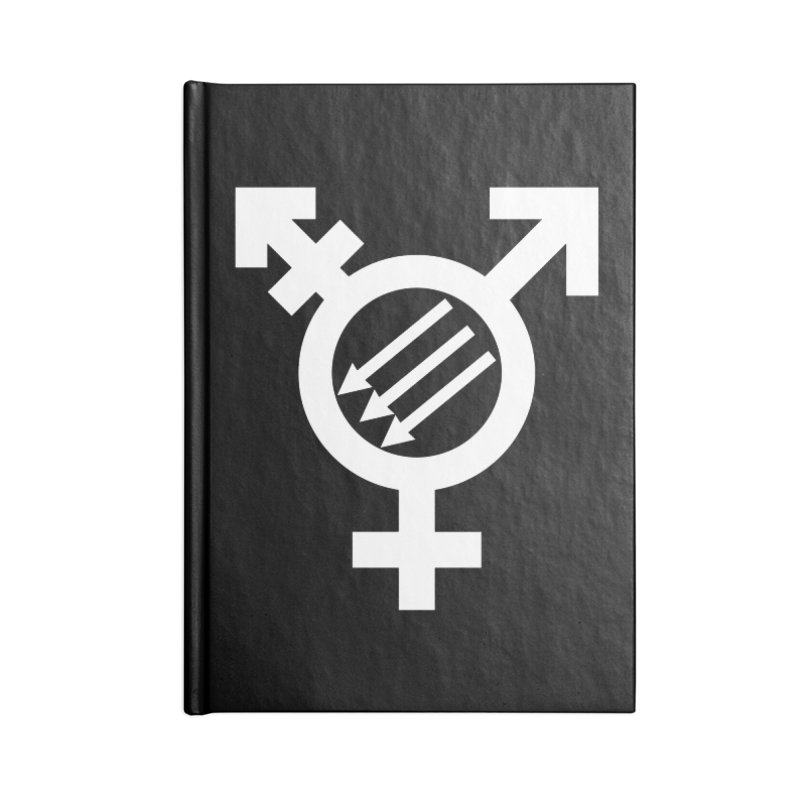 Transfeminist Antifa Accessories Blank Journal Notebook by Punk Rock Girls Like Us