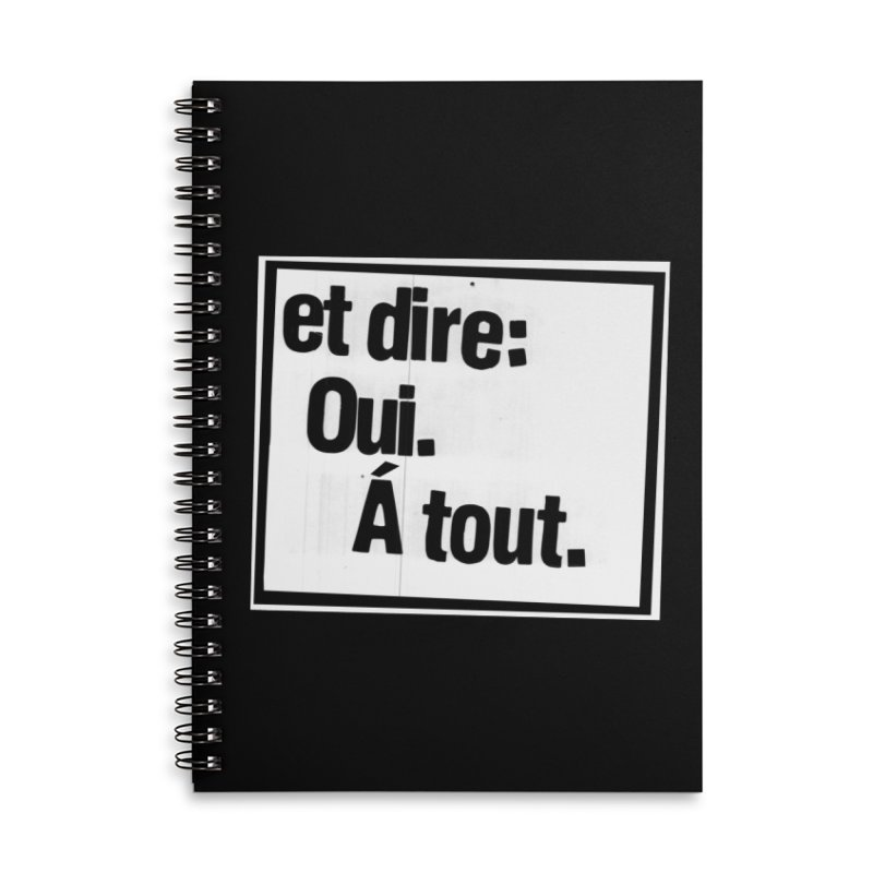 And say: Yes.  To everything. Accessories Notebook by Punk Rock Girls Like Us