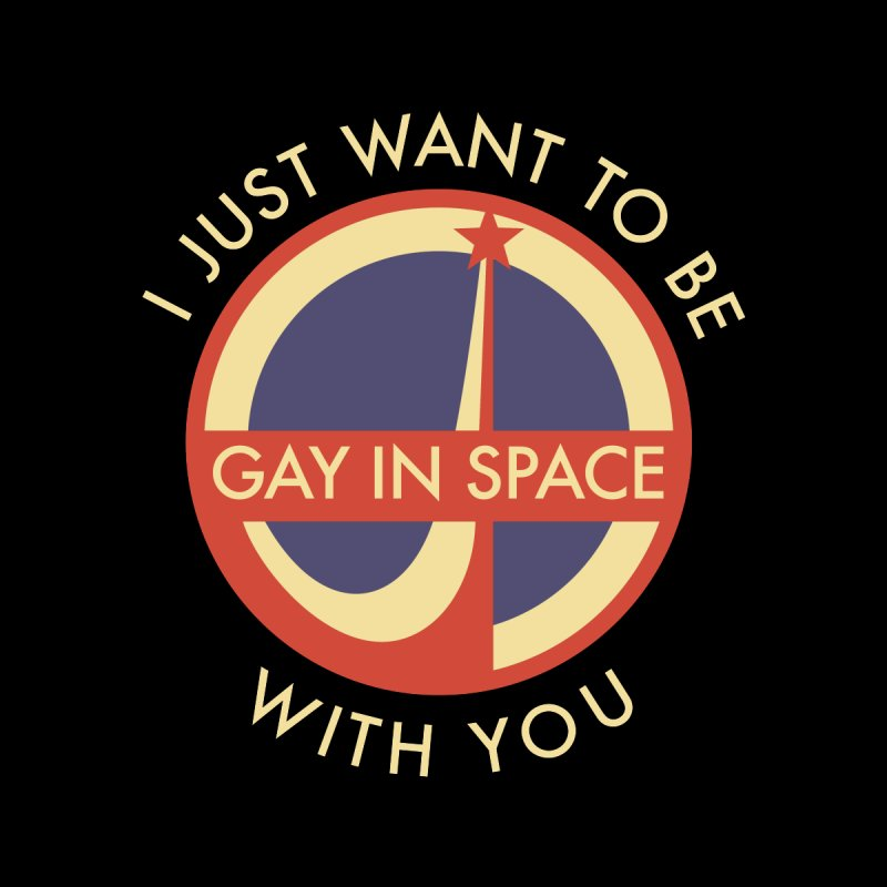 Gay.  In. Space. Accessories Water Bottle by Punk Rock Girls Like Us