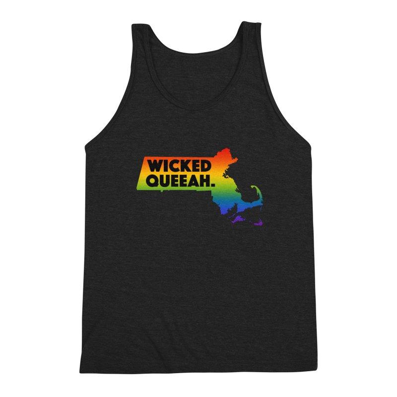 Wicked Queeah. Men's Triblend Tank by Punk Rock Girls Like Us