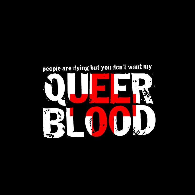 QUEER BLOOD Women's V-Neck by Punk Rock Girls Like Us