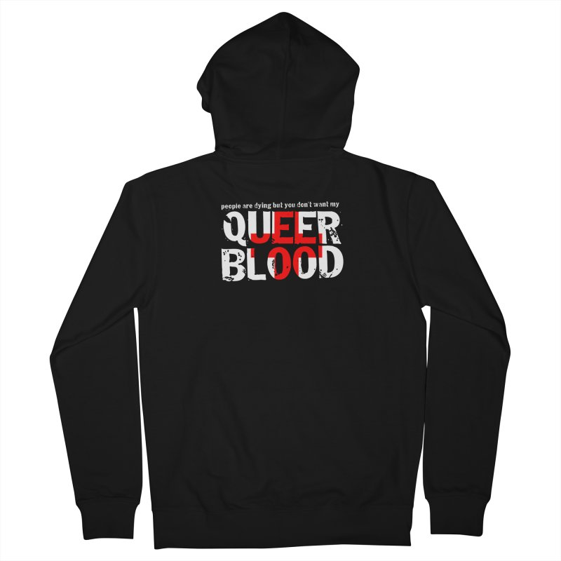 QUEER BLOOD Women's Zip-Up Hoody by Punk Rock Girls Like Us