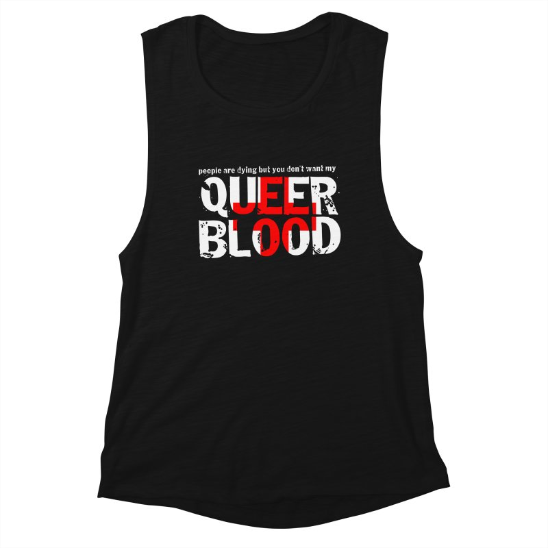 QUEER BLOOD Women's Tank by Punk Rock Girls Like Us