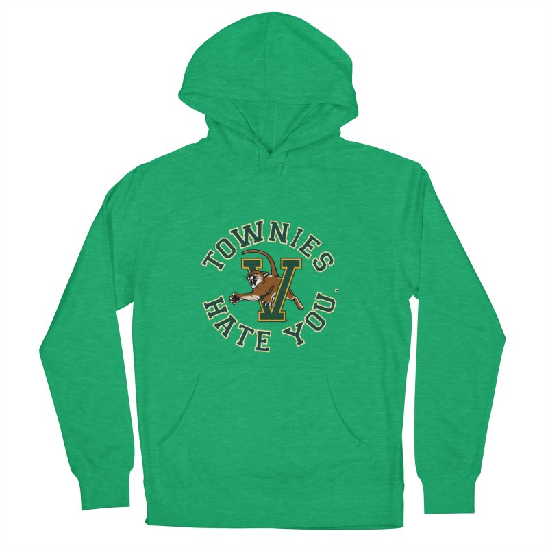 TOWNIES HATE YOU Men's French Terry Pullover Hoody by Punk Rock Girls Like Us