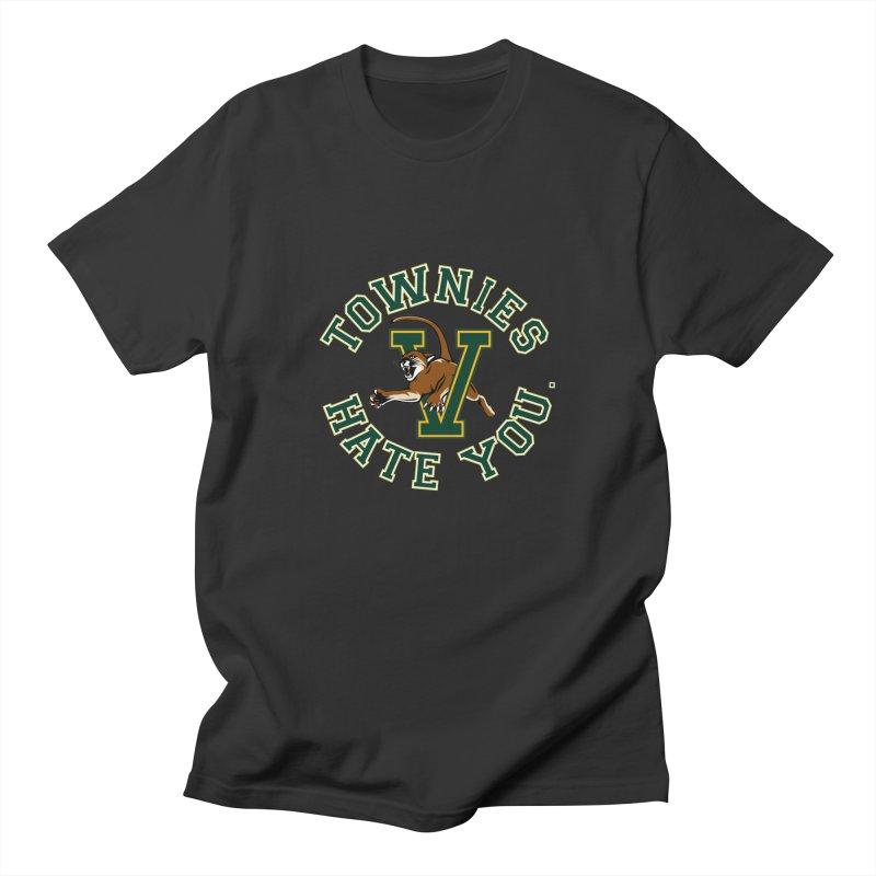 TOWNIES HATE YOU Men's Regular T-Shirt by Punk Rock Girls Like Us