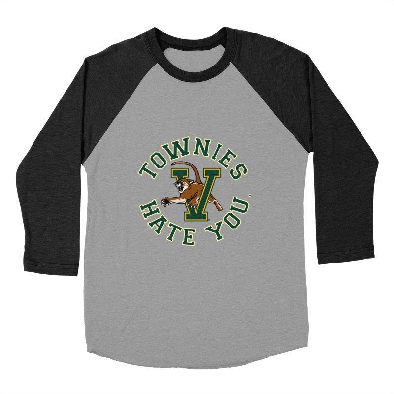 TOWNIES HATE YOU Women's Baseball Triblend Longsleeve T-Shirt by Punk Rock Girls Like Us