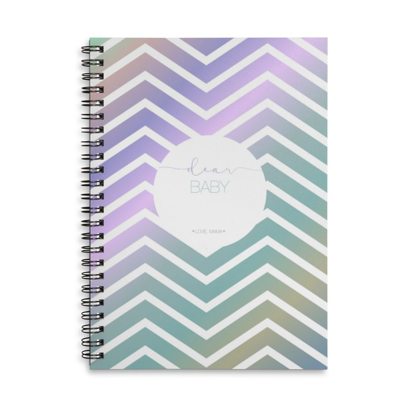 Dear Baby Pregnancy Journal rainbow Accessories Notebook by Love and Marriage shop
